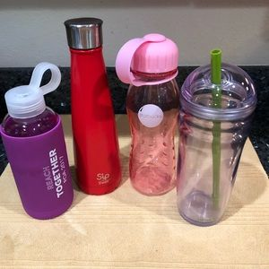 Water Bottle Collection, Swell, Starbucks, 4 ct